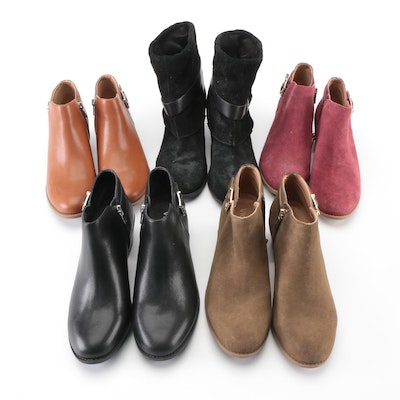 Nine West Darlie Suede with Vionic Millie Suede and Leather Ankle Boots