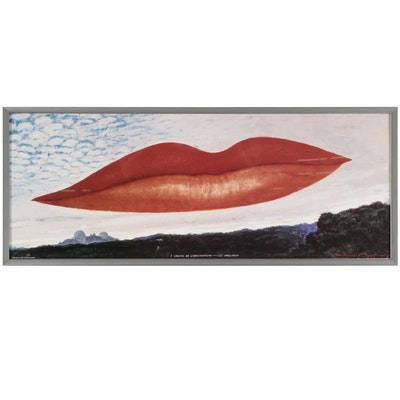 """Offset Lithograph After Man Ray """"À l'Heure de l'Observatoire—Les Amoureux,"""" 1998"""