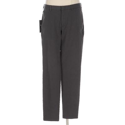BOSS Hogo Boss Men's Tapered Slim Travel Pants in Grey Cotton