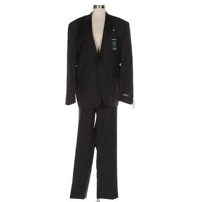 LAUREN Ralph Lauren Men's Suit Separates in Ultraflex Black Wool