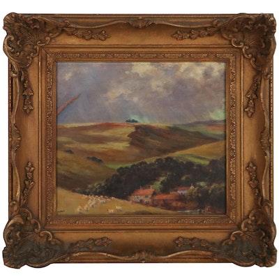 Madeleine Appel Pastoral Landscape Oil Painting