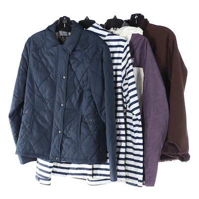 Barbour Quilted, Helly Hanson, Mountain Hardware and Patagonia Outdoor Jackets