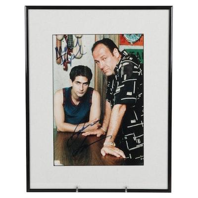 "James Gandolfini and Michael Imperioli Signed ""The Sopranos"" Photo Print, COA"