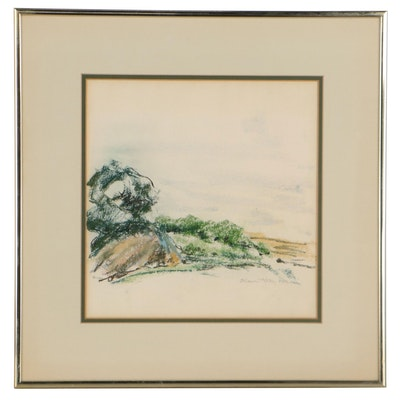 "Elise Kay Harris Pastel Drawing ""Composure,"" Late 20th Century"