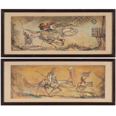 Vivanco Gouache Paintings of Don Quixote of La Mancha, 1989