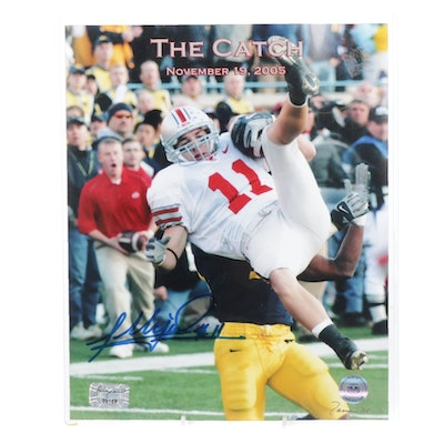 """2005 Anthony Gonzales Signed """"The Catch"""" Photo Print, COA"""
