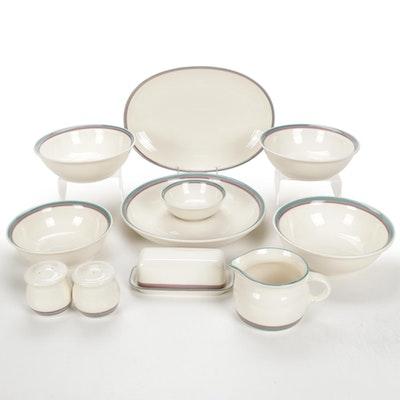 """Pfaltzgraff """"Aura Pink"""" Ceramic Serveware"""