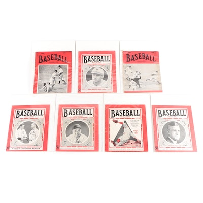 """""""Baseball Magazine"""" Collection of Issues, 1931–1938"""