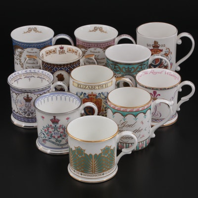 The Royal Collection, Dunoon, and Other Commemorative English Porcelain Mugs