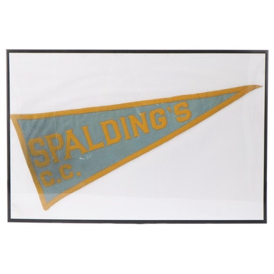 Spalding's C.C. Advertising Felt Pennant, Early to Mid 20th Century