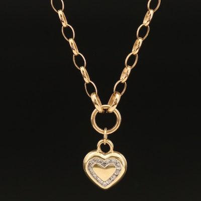 14K 0.24 CTW Diamond Heart Necklace