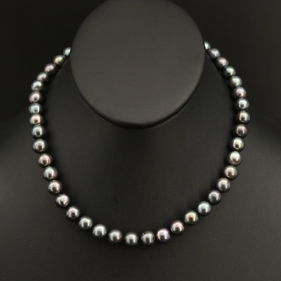 Near-Round to Oval Pearl Necklace