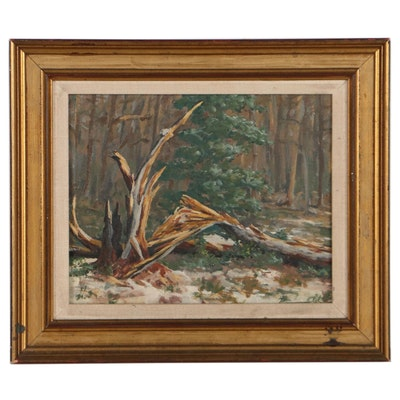 """Impressionist Style Oil Painting """"After the Ice Storm,"""" 1994"""
