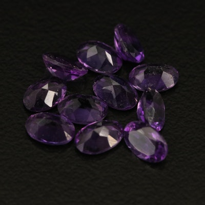 Loose 4.66 CTW Oval Faceted Amethyst