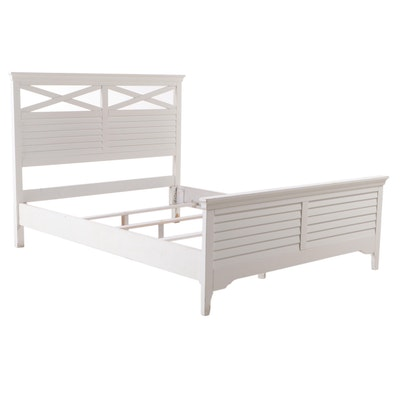 Contemporary Painted Wood Queen Sized Bed Frame