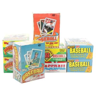 1980s Sealed Topps Major League Baseball Trading Card Packs