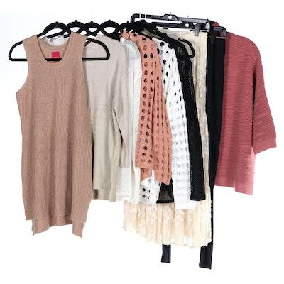 Marla Wynne Sweaters, Carole Little Lace Skirt and Leggings