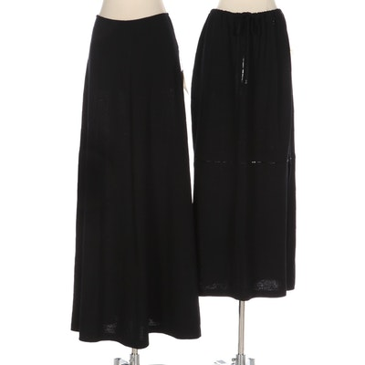St. John Evening by Marie Gray and St. John Sport Skirts in Black Knit