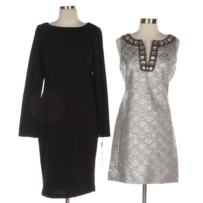 Calvin Klein and Tory Burch Embellished Cocktail and Workwear Dresses