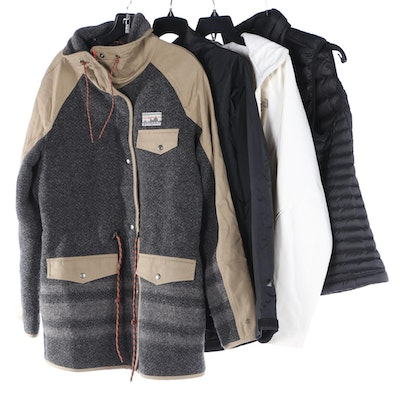 Patagonia and The North Face Outdoor Jackets and Vest