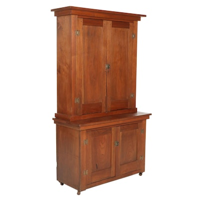 Walnut Two-Stack Cabinet, Early 20th Century