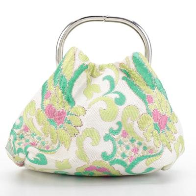 Prada Brocade Ring Handle Mini Bag