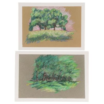 Elsie Kay Harris Landscape Pastel Drawings