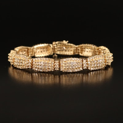 14K 8.05 CTW Diamond Cluster Bracelet