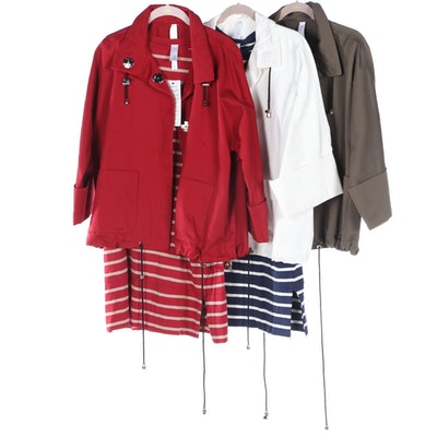Marla Wynne Jackets and Striped Tunic Dresses