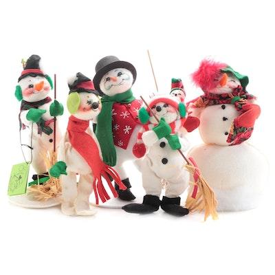 Annalee Mobilitee Snowman Christmas Doll Figurines