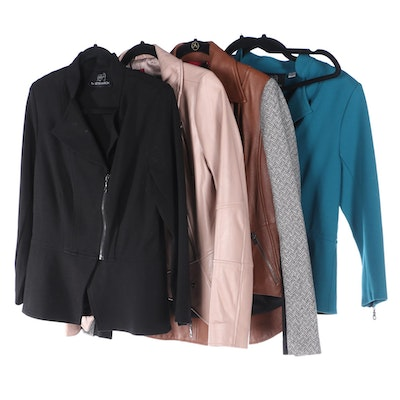 Seth Aaron and G.I.L.I. Jackets and Faux Leather Skirt
