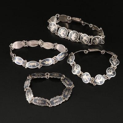 Thai Niello Siam Sterling Bracelets