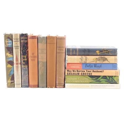 First UK Edition Graham Greene and Evelyn Waugh Novels and More