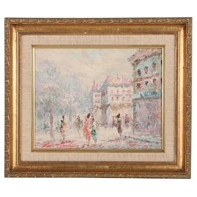 Marie Charlot Oil Painting of Street Scene