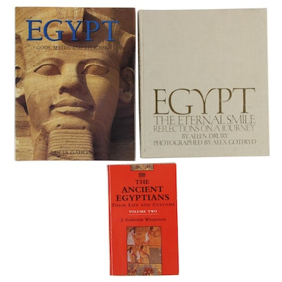 """""""Egypt Gods, Myths and Religion"""" by Lucia Gahlin and Other Egypt History Books"""