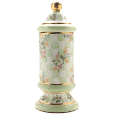 """MacKenzie-Childs """"Sweet Pea"""" Canister, Late 20th Century"""