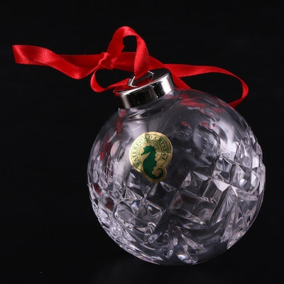 """Disney for Waterford Crystal """"Mickey Mouse Icon Ball"""" Ornament"""