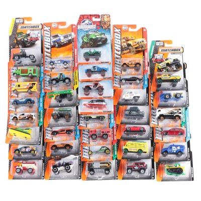 """Matchbox 1:64 Scale Toy Cars by Mattel Including """"MBX Construction"""""""