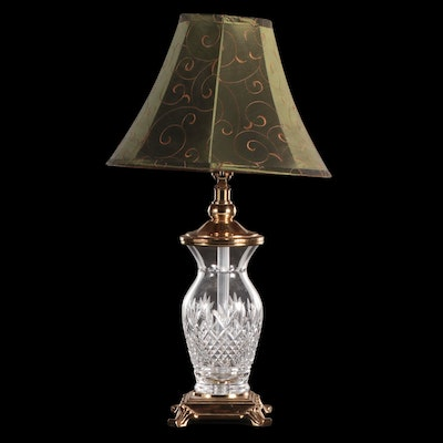 Waterford Cut Crystal and Brass Table Lamp