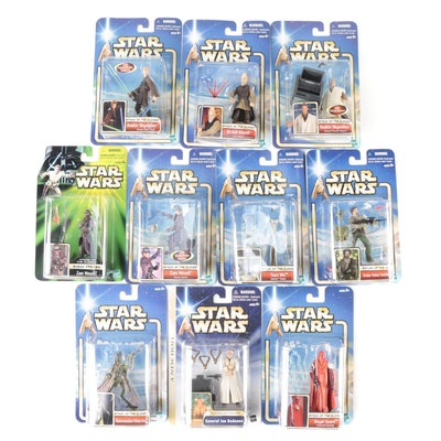 """Collection of Unopened """"Star Wars"""" Action Figures from Hasbro, 2000s"""