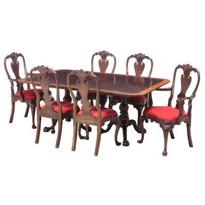 """Seven-Piece Stickley """"Williamsburg Reserve Collection"""" Mahogany Dining Set"""