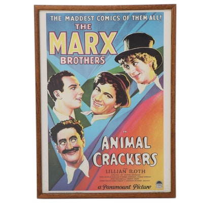 """Lithograph of The Marx Brothers """"Animal Crackers"""""""