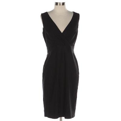 Kay Unger New York V Neck Dress in Black Knit