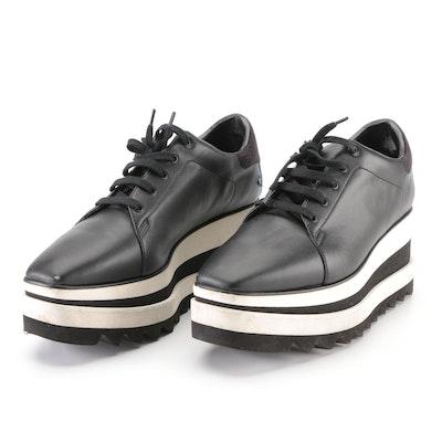 Stella McCartney Sneak-Elyse Platform Sneakers in Black Faux Leather