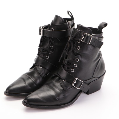 AllSaints Katy Boots in Black Leather