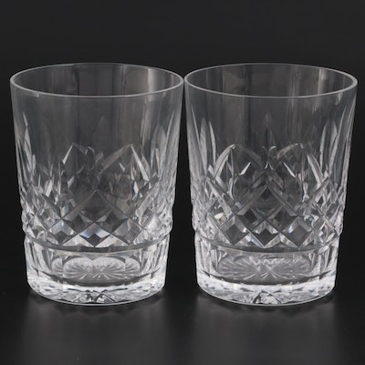 """Waterford Crystal """"Lismore"""" Double Old Fashioned Glasses"""