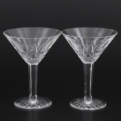 """Waterford Crystal """"Lismore"""" Martini Glasses"""