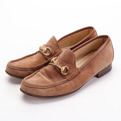 Men's Gucci Suede Horsebit Loafers