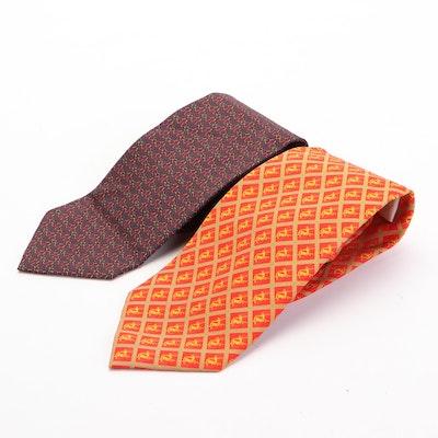 Rémy Martin and Ermenegildo Zegna Patterned Silk Neckties