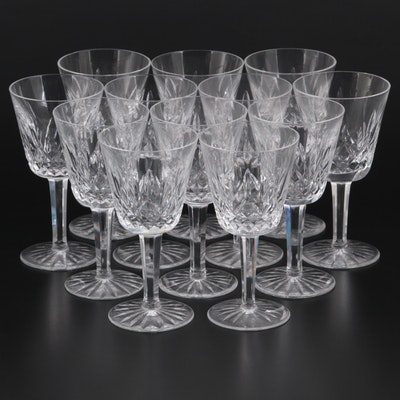 "Waterford Crystal ""Lismore"" Claret Wine Glasses"